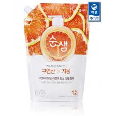 Средство для мытья посуды Soonsaem Citric Acid Grapefruit 1.2л мягкая упаковка