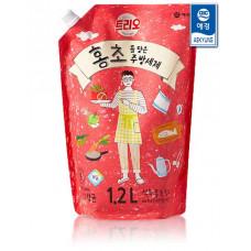 Средство для мытья посуды Trio Red Vinegar Pomegranate 1.2л мягкая упаковка