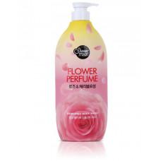 Гель для душа Shower Mate Flower Perfume Pink Rose & Cherry Blossom Body Wash 900г