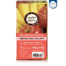 Набор мыла Happy Bath Essence Moisturizing Bar Apple Vanilla Soap 4шт