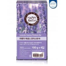 Набор мыла Happy Bath Essence Moisturizing Bar Lavender Soap 4шт