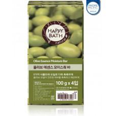 Набор мыла Happy Bath Essence Moisturizing Bar Olive Soap 4шт